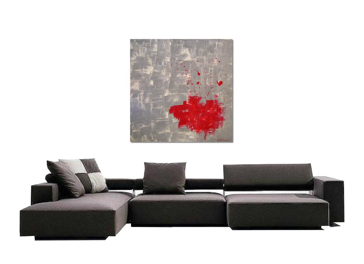 Abstraktes Gemälde 100x100 cm von Pete Schröder