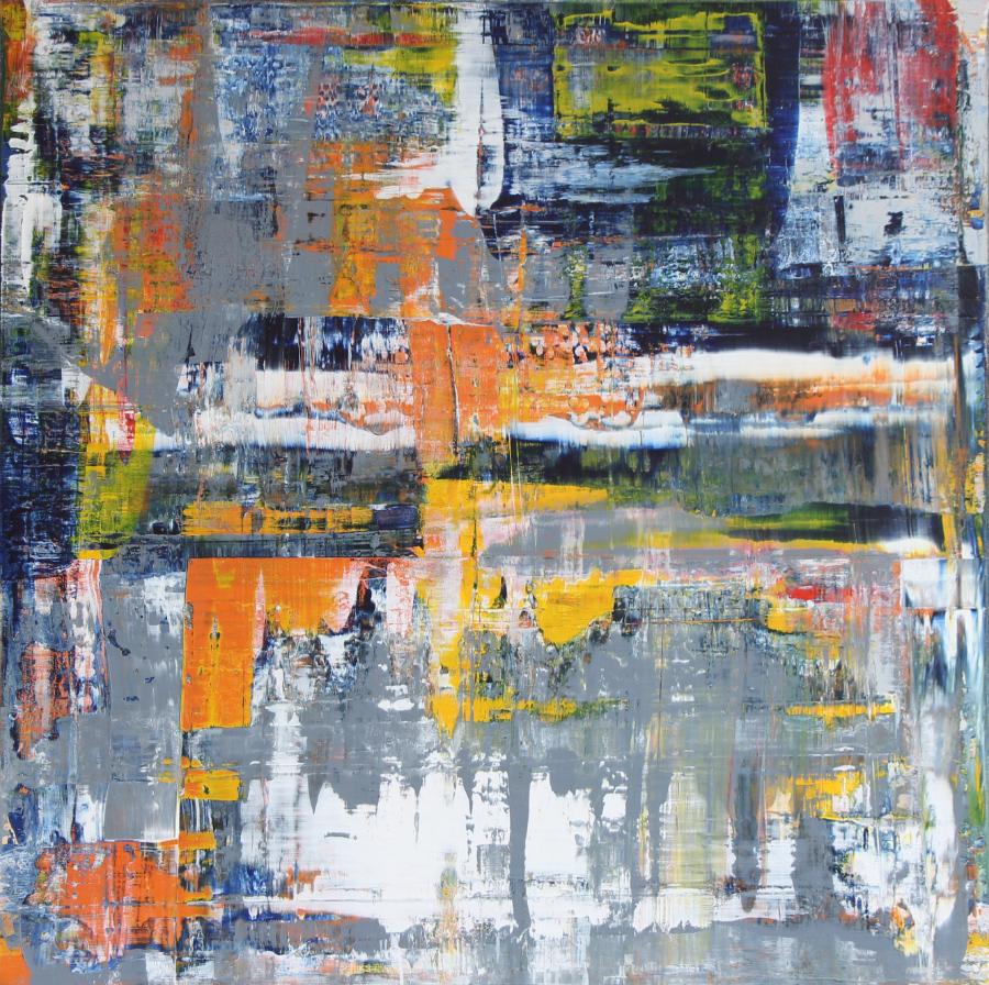Abstraktes Gemälde von Pete Schröder