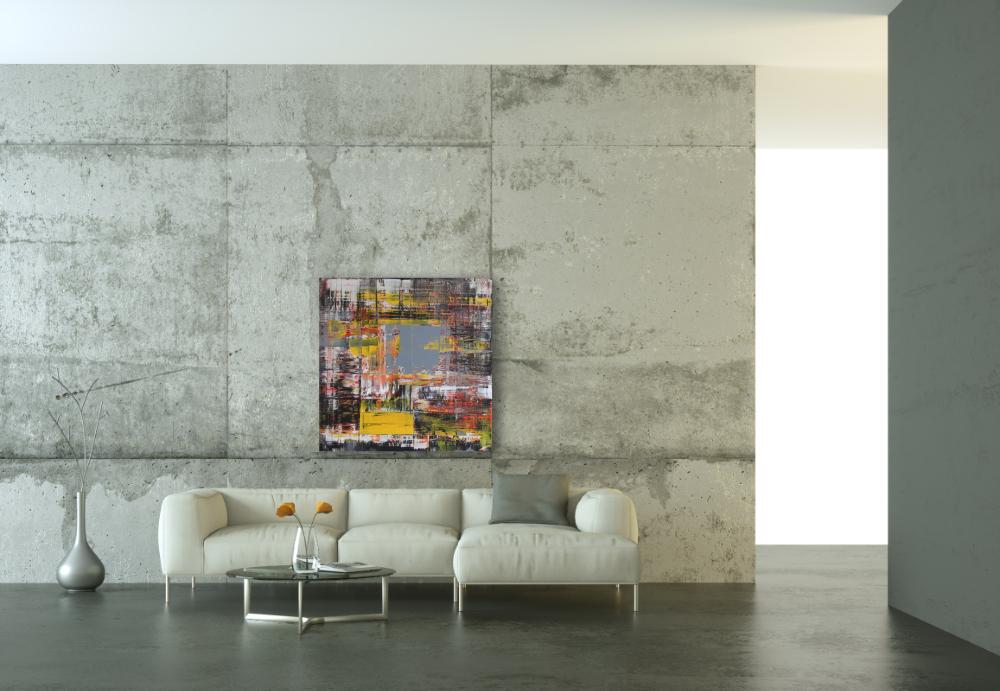 Abstraktes Gemälde 80x80 cm von Pete Schröder